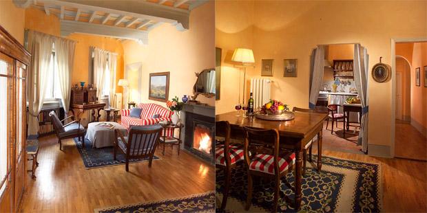 Salotto e cucina Casa Tornabuoni Firenze